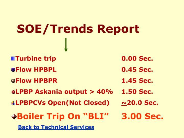 SOE/Trends Report