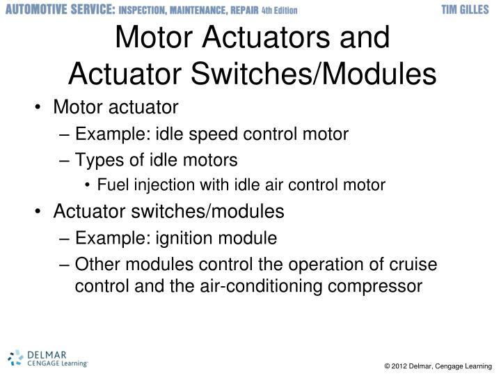 Motor Actuators and