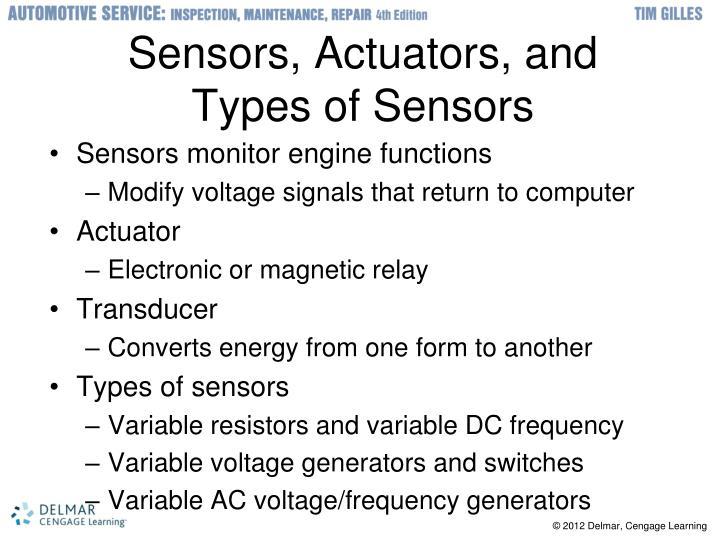 Sensors, Actuators, and