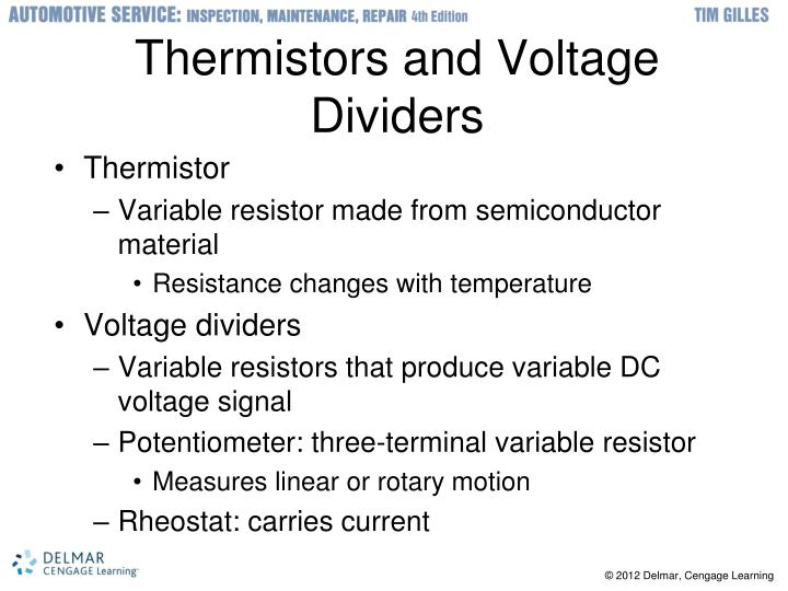 Thermistors and Voltage Dividers