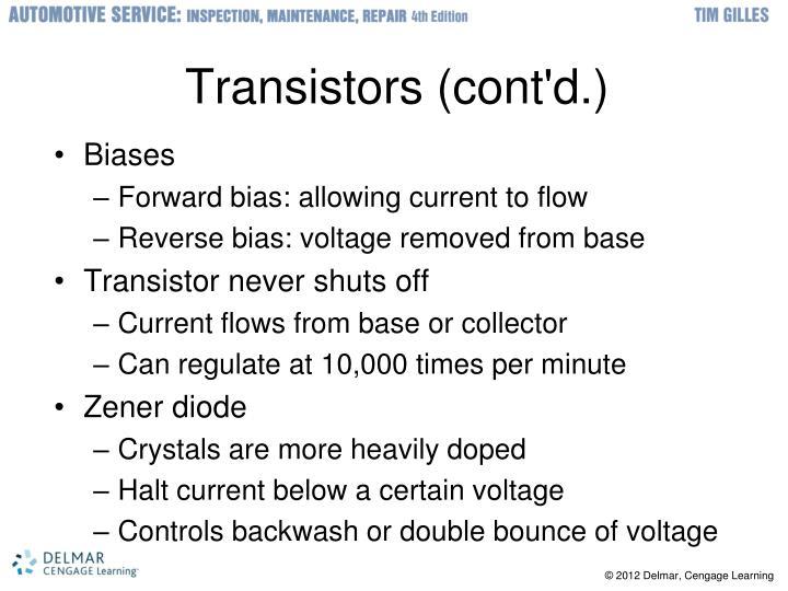 Transistors (cont'd.)