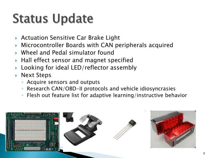 Actuation Sensitive Car Brake Light