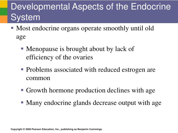 Developmental Aspects of the Endocrine System