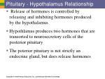 pituitary hypothalamus relationship