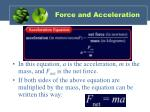 force and acceleration1
