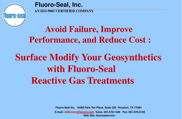 Avoid failure improve performance and reduce cost