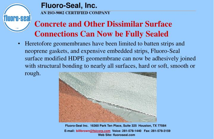 Concrete and Other Dissimilar Surface Connections Can Now be Fully Sealed