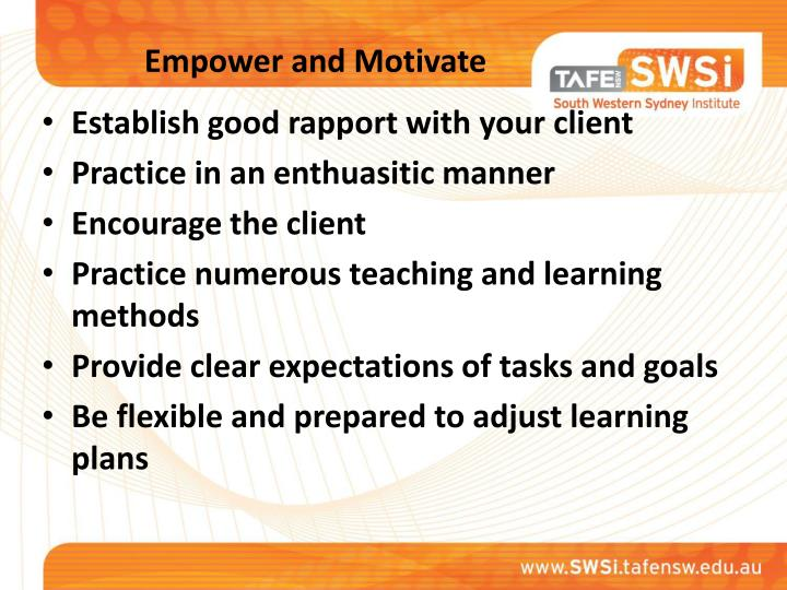 Empower and Motivate