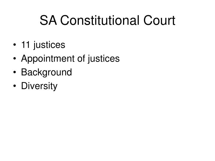 SA Constitutional Court