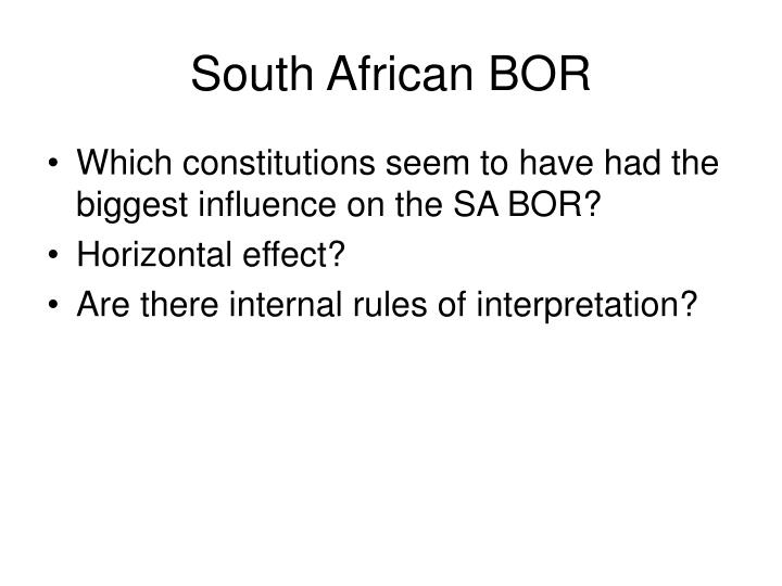 South African BOR