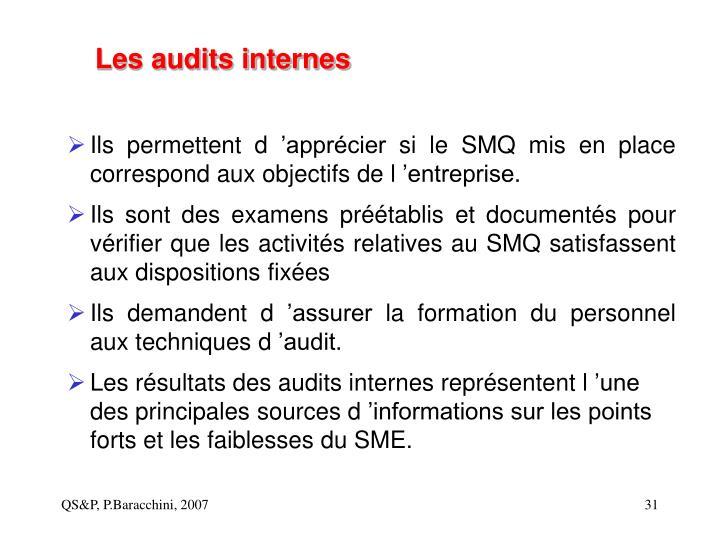 Les audits internes