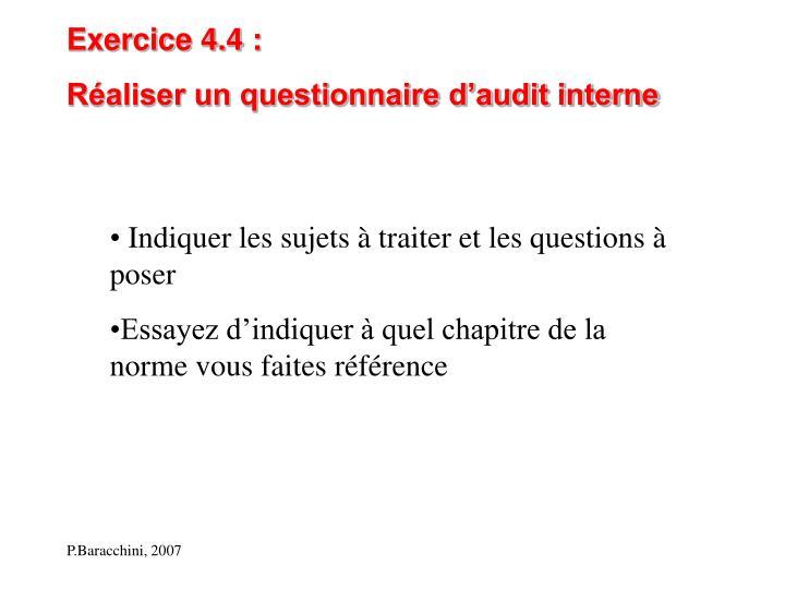 Exercice 4.4 :