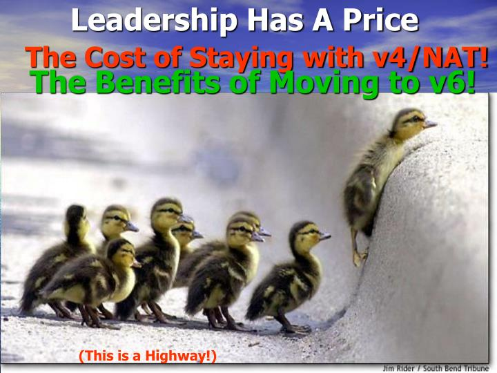 Leadership Has A Price