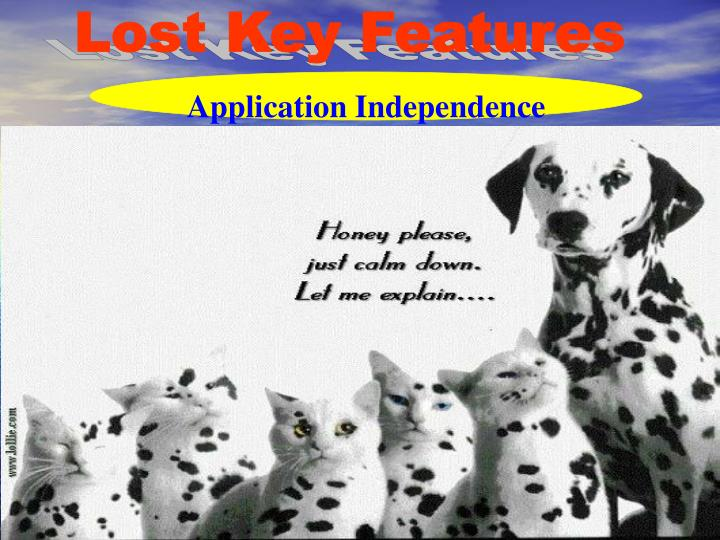 Lost Key Features