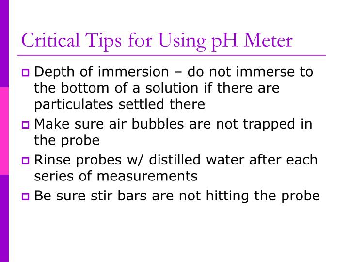 Critical Tips for Using pH Meter