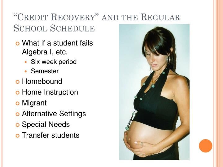 """""""Credit Recovery"""" and the Regular School Schedule"""