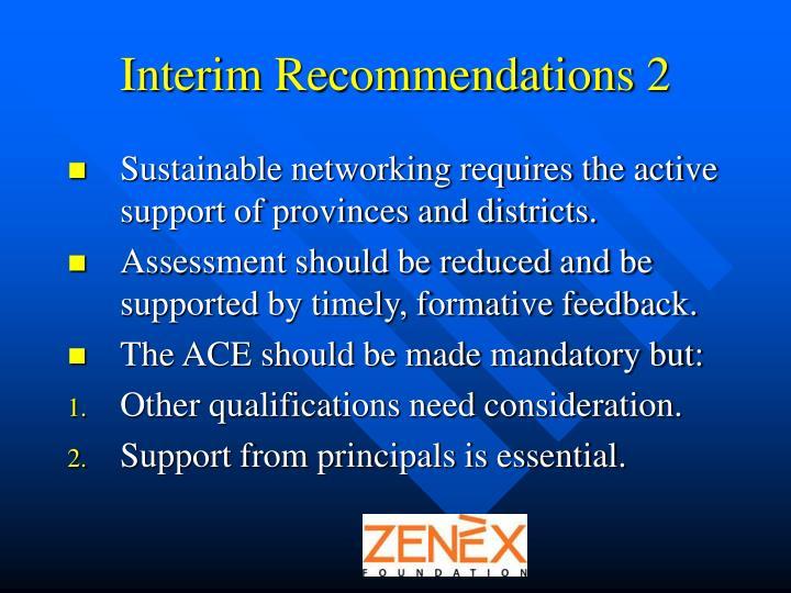 Interim Recommendations 2