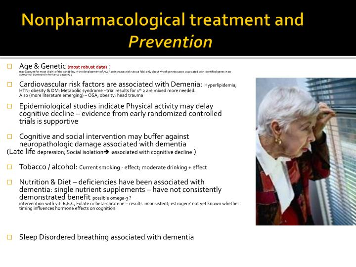 Nonpharmacological treatment and