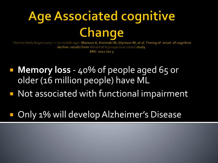 Age Associated cognitive Change