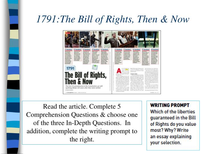 1791:The Bill of Rights, Then & Now