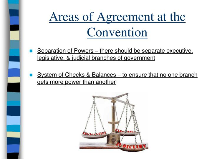 Areas of Agreement at the Convention