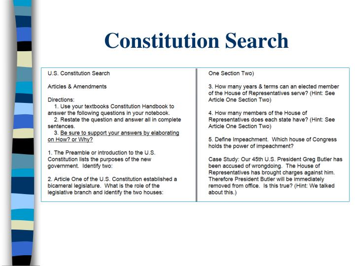 Constitution Search