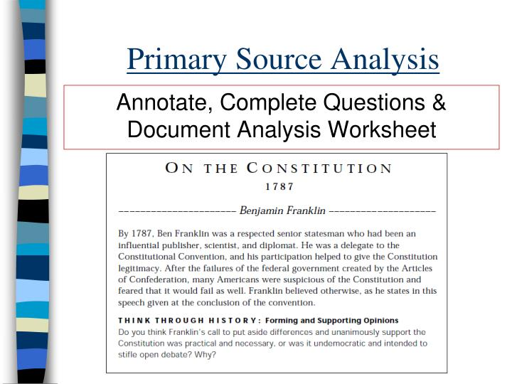 Primary Source Analysis