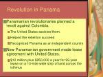 revolution in panama