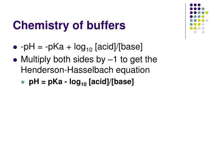 chemistry buffers bicarbonate buffers This is the buffer definition in chemistry and biology, along with examples and an explanation of how buffers work  blood - contains a bicarbonate buffer system.