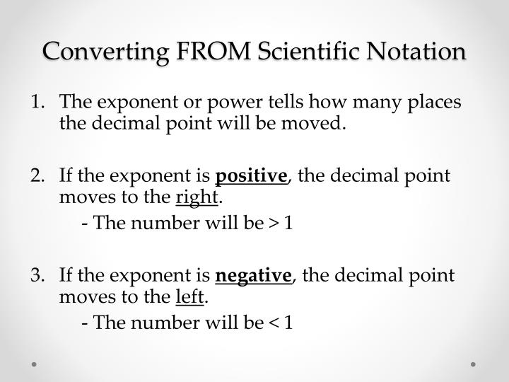 Converting FROM Scientific Notation