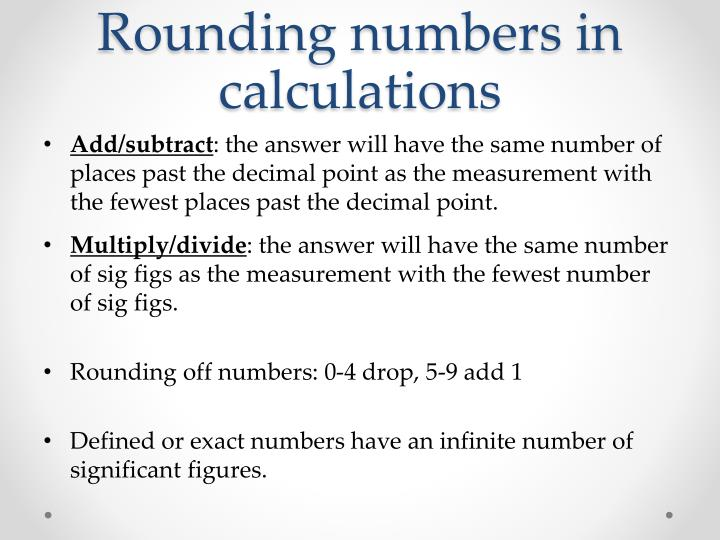 Rounding numbers in