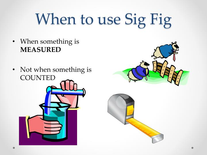 When to use Sig Fig