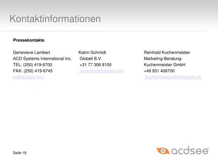 Kontaktinformationen