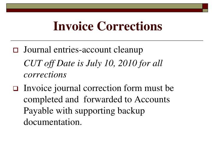 Invoice Corrections