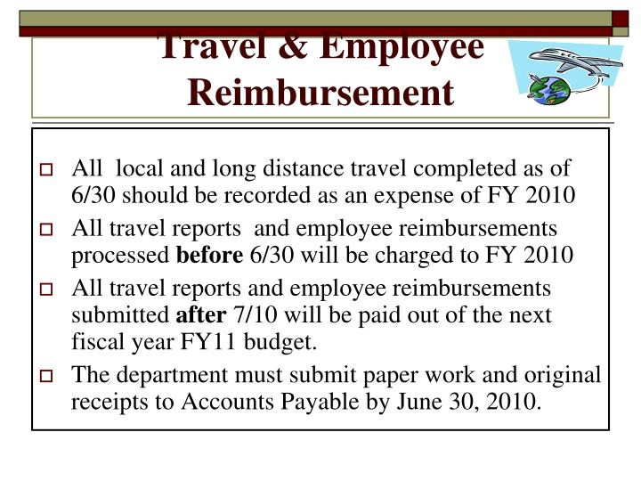 Travel & Employee Reimbursement