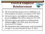 travel employee reimbursement