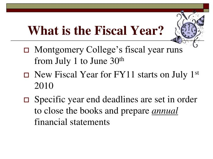 What is the Fiscal Year?