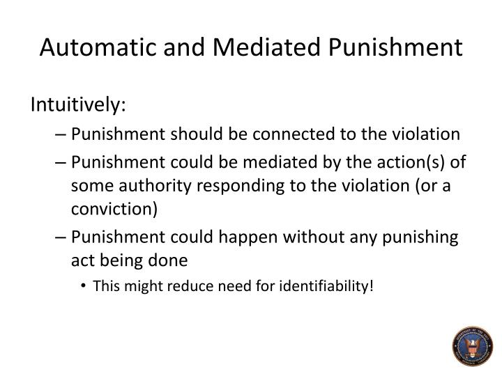 Automatic and Mediated Punishment