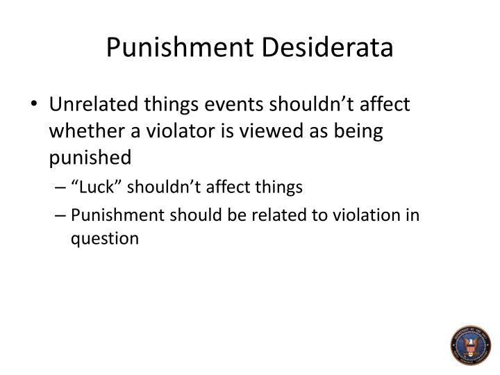 Punishment Desiderata
