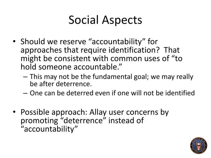 Social Aspects