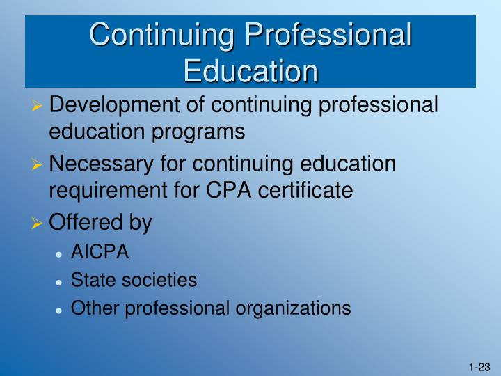 Continuing Professional Education