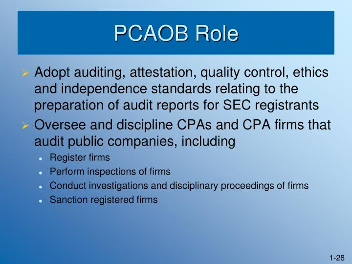 PCAOB Role
