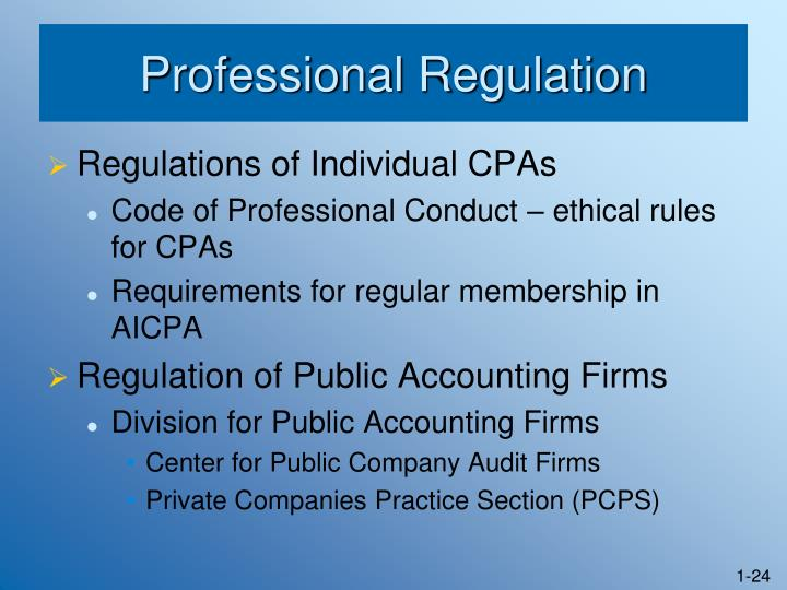 Professional Regulation