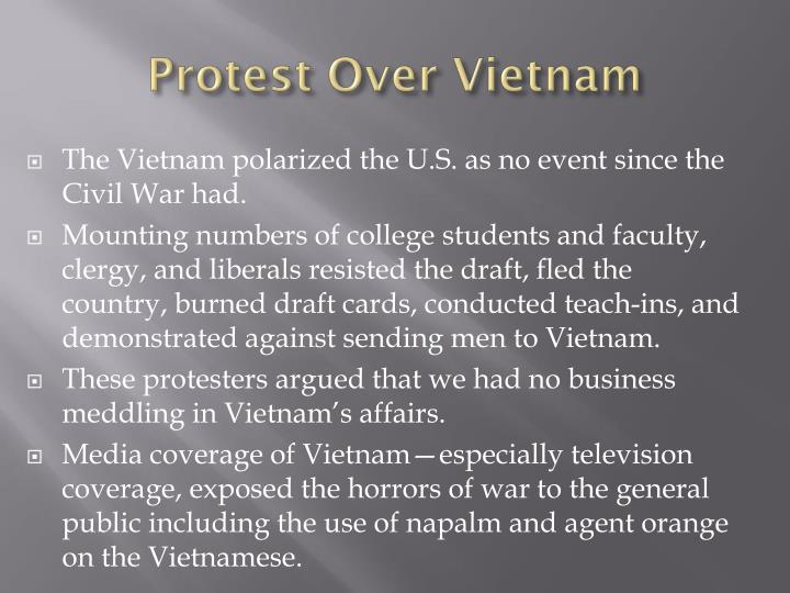 Protest Over Vietnam