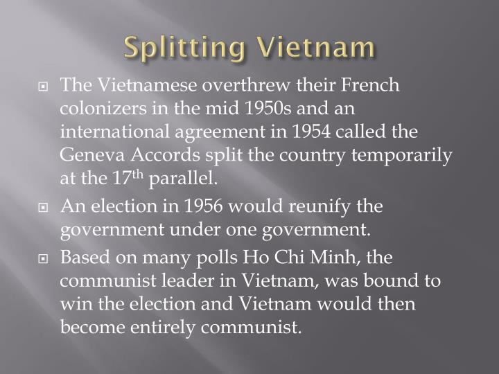 Splitting vietnam
