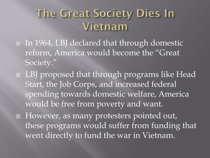 The Great Society Dies In Vietnam