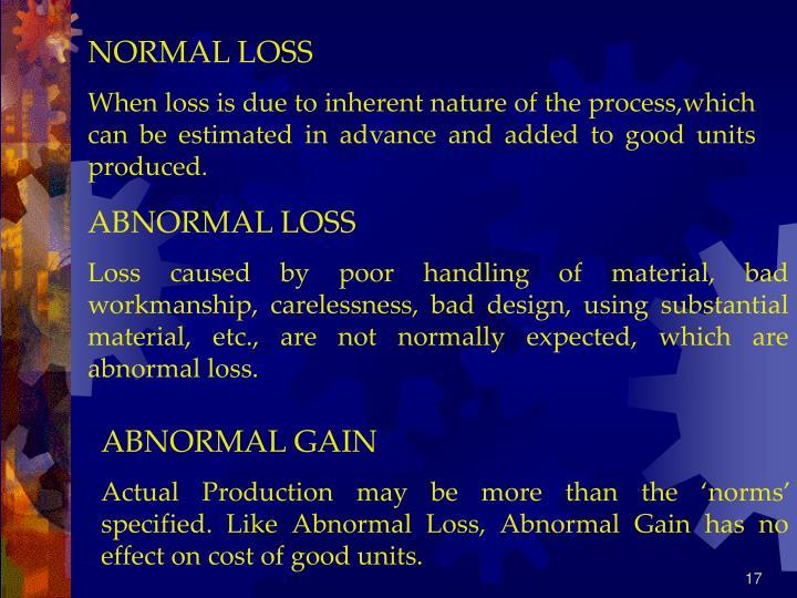NORMAL LOSS
