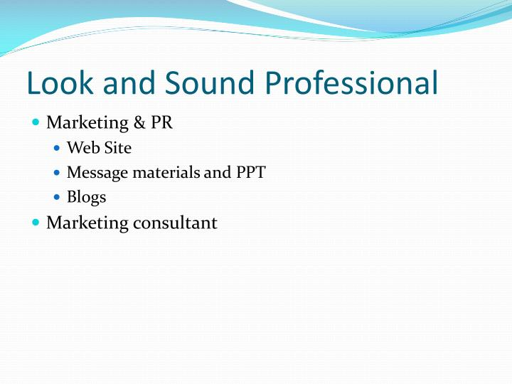 Look and Sound Professional