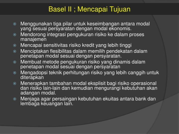 Basel II ;