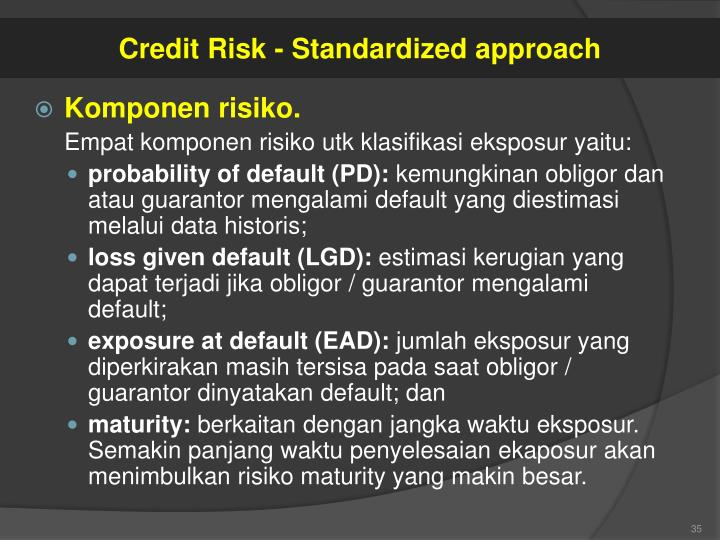 Credit Risk - Standardized approach